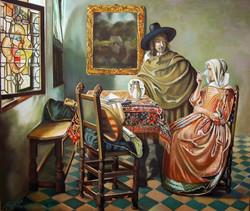 Herr und Dame beim Wein