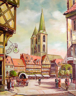 Alt Halberstadt, Holzmarkt mit Blick