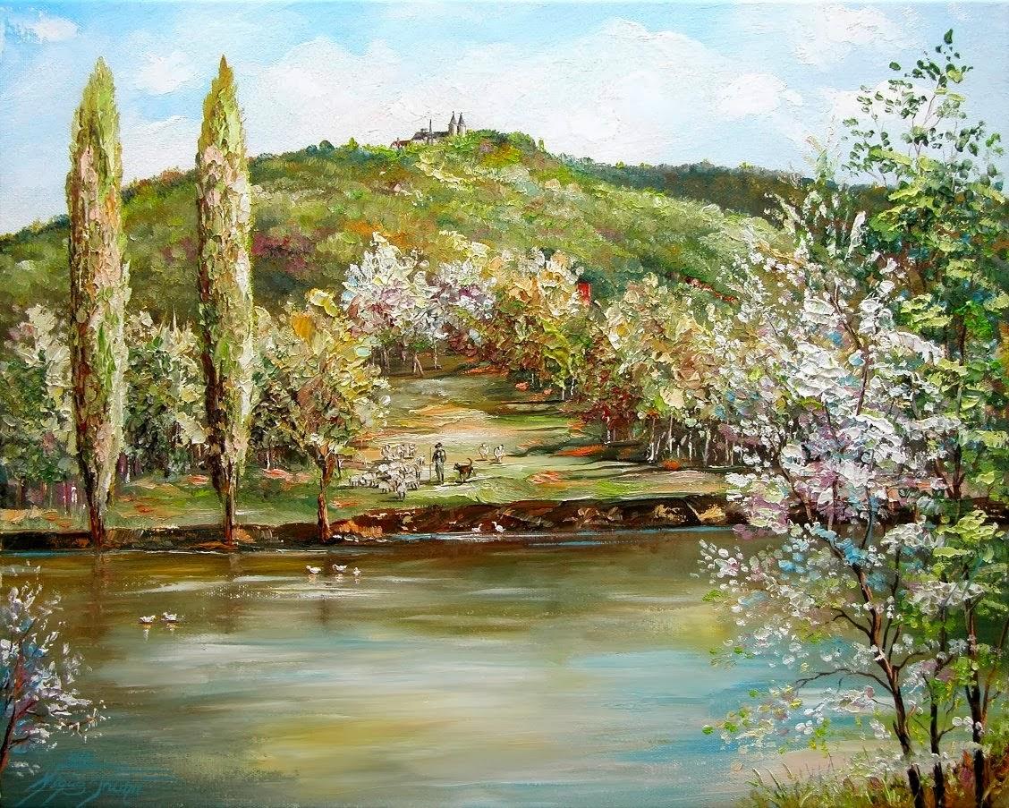 Die Huysburg vom Röderhofer Teich
