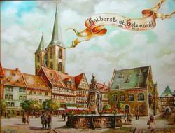Alt Halberstadt Holzmarkt mit Spruch