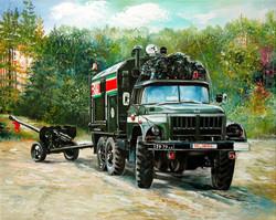 150-Armeefahrzeug-Auftragsarbeit-Oel-auf-Leinwand-40-X-50-cm-2002