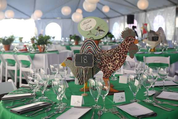 Fundraiser Table Setting