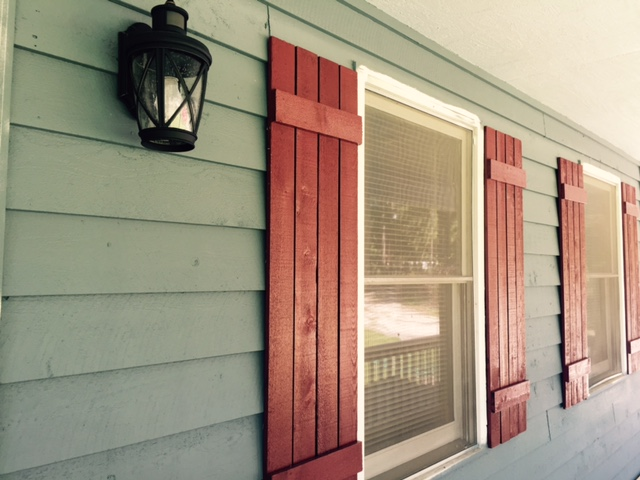 exterior paint on walls & shutters