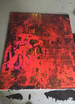 100cm x 120cm Acryl auf Leinwand (verkauft)