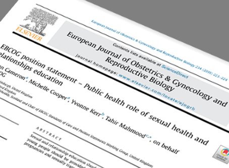 EBCOG position statement – Public health role of sexual health and relationships education