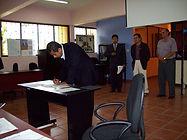 Juan Manuel Avila Garcia, Director de Proyectos, durante una evaluación de proyectos en el CIIE, Apizaco-Tlaxcala