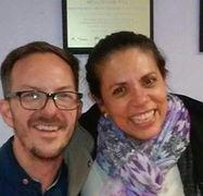 Judy Doens con Roberto Saint Martin, Director de Robotix