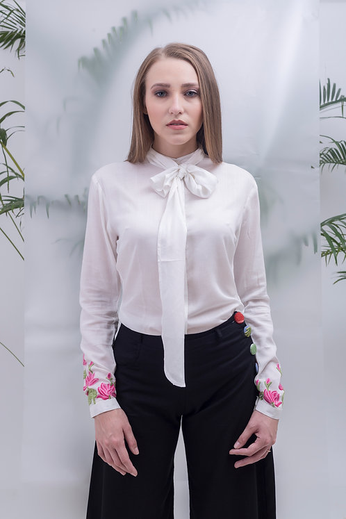 maay - TOP KNOT CONCEALED PLACKET SHIRT