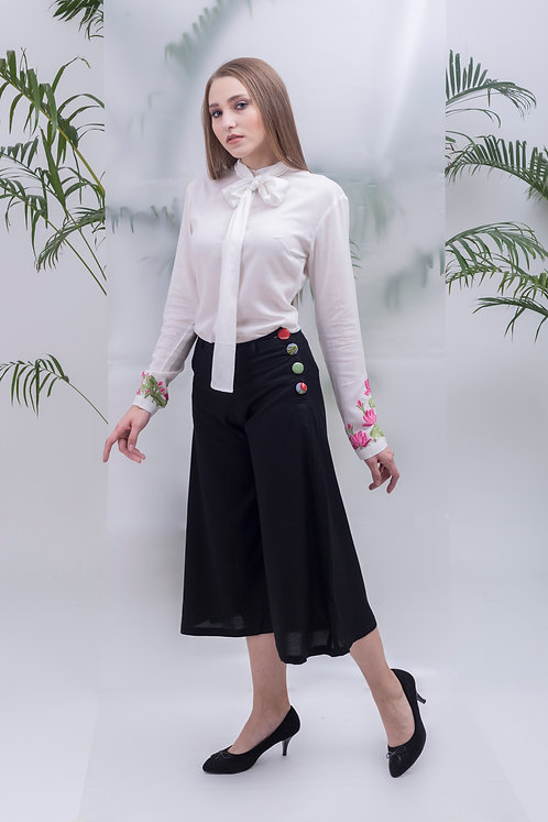 maay -BUTTON-UP CULOTTES