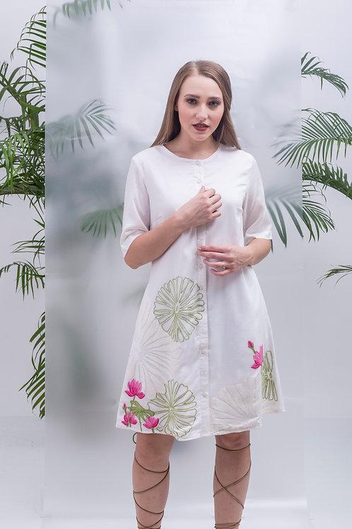 maay -LOTUS POND SHIRT DRESS