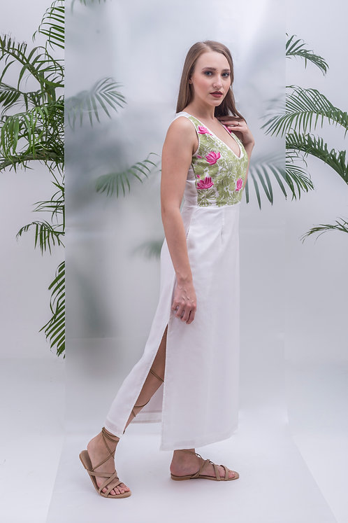 MAAY -LOTUS POND STRAIGHT LONG DRESS