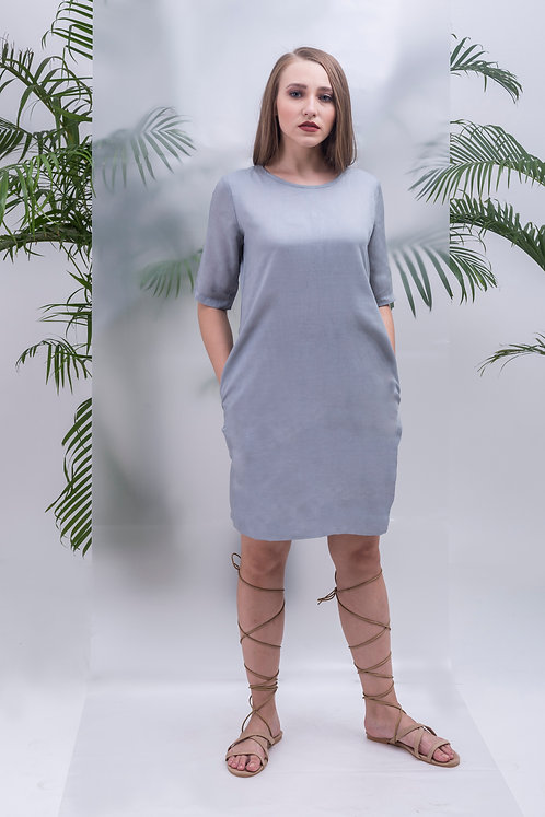 BASIC BUTTON-UP SHIFT DRESS