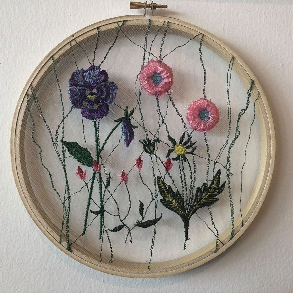 Pressed Flower Embroidery