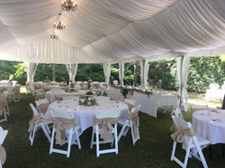 Wedding Marquee Americana Chairs with Ta