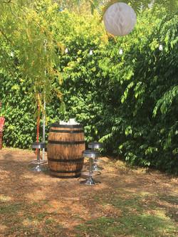 Wine Barrels Bar Stools Festoons