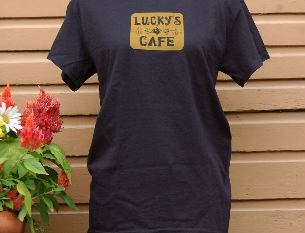 Classic Black Lucky's Cafe T-shirt
