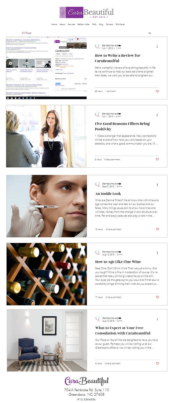 Carabeautiful, Blog