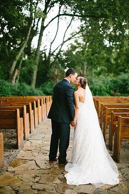 Couple kissing at Columbia Wedding