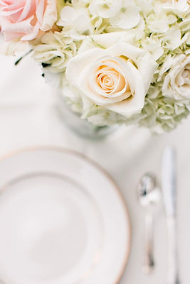 Flowers and Place setting - Nashville Wedding Coordination