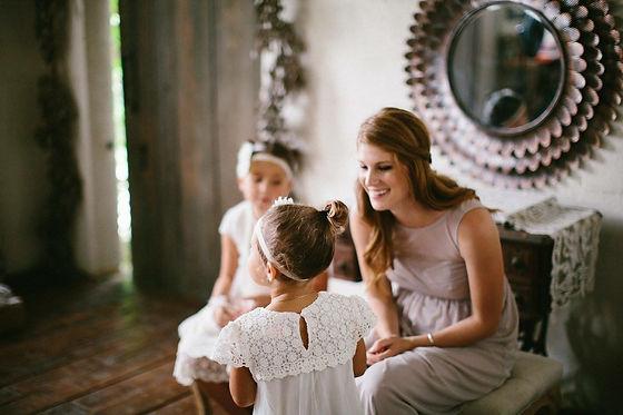 Bridesmaid and flower girls at a Nashville Wedding