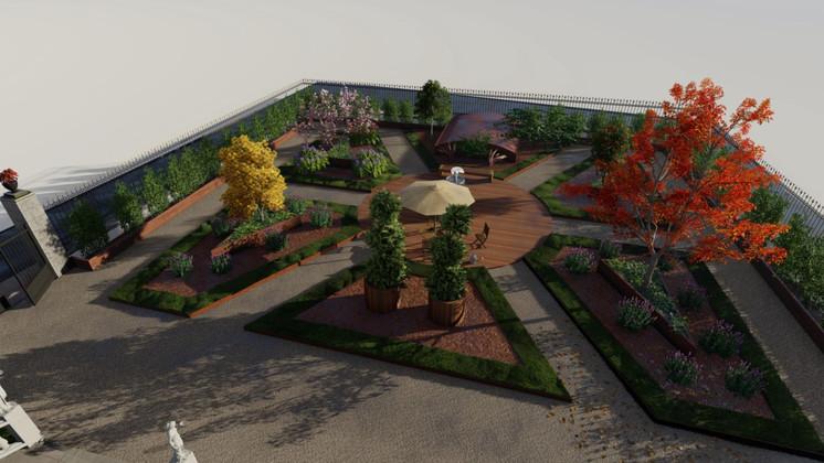 Recuperación de jardín en edificación protegida