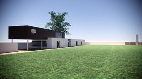 Campo de fútbol Santa Bárbara en Ablaña - Mieres