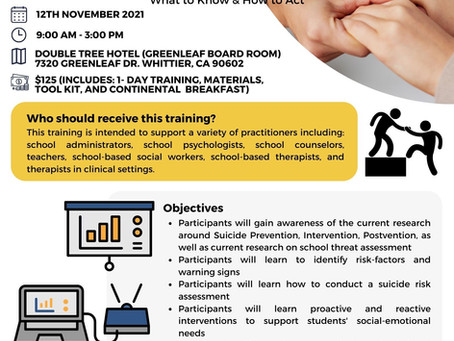 November 12, 2021: Addressing Suicide Risk and School Threats