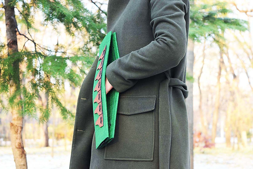 Șindrilica Clutch Envelope - Green