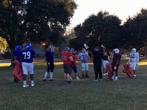 State championship players enjoying time at Red Stick Bowl practice