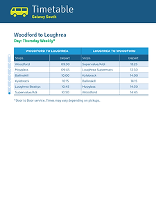 Woodford to Loughrea