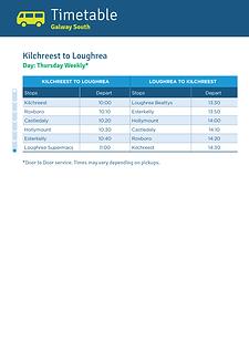 Kilchreest to Loughrea