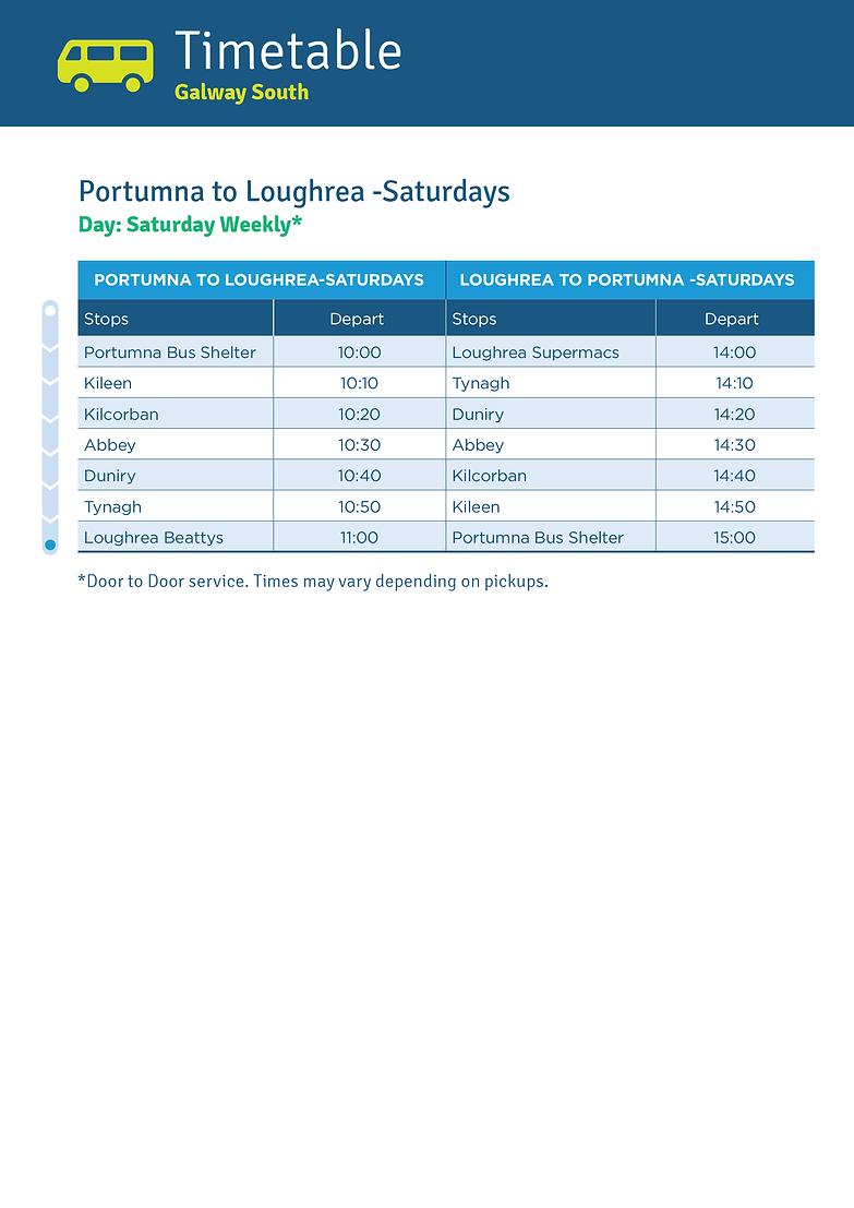 Portumna to Loughrea Saturdays