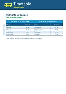 Killimor to Ballinasloe
