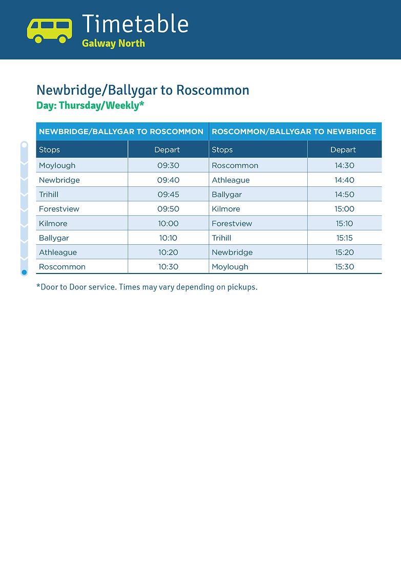 Newbridge/Ballygar to Roscommon