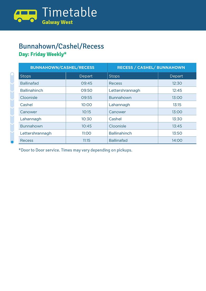 Bunnahown/Cashel/Recess
