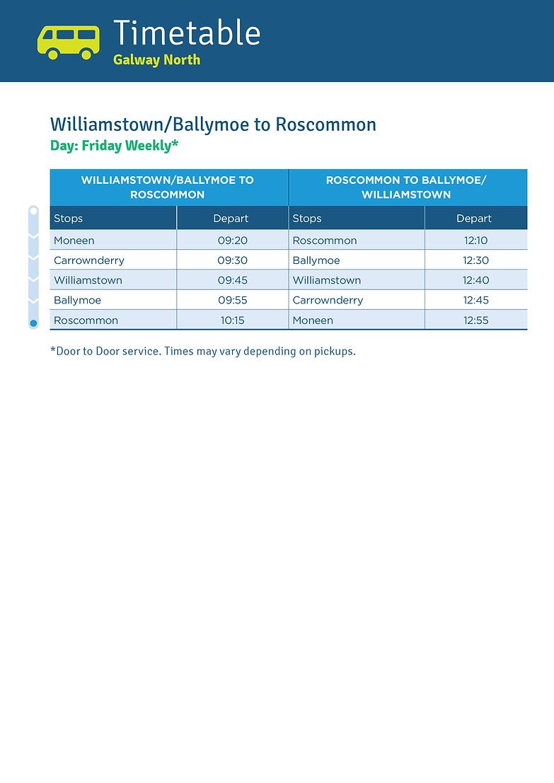 Williamstown/Ballymoe to Roscommon