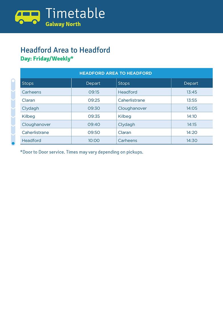 Headford Area to Headford