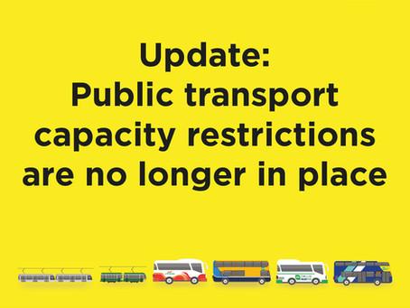 Onboard capacity has returned to full capacity.