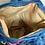 Thumbnail: ワユーハンドバッグ 巾着型 タペストリー ブルーフラワー Lサイズ