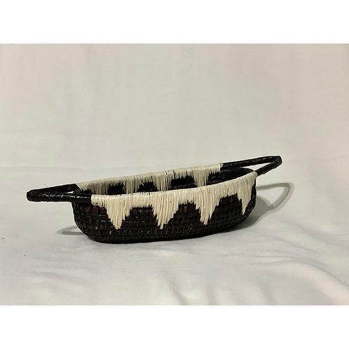 エンベラ•ウォウナン族の手作りカゴ雑貨 ボート Lサイズ