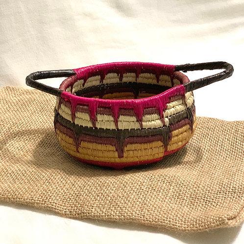 エンベラ・ウォウナアン族の手作り カゴ雑貨 カラフルポット