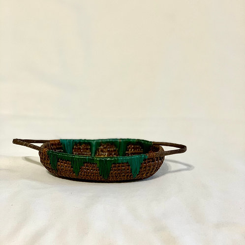 エンベラ•ウォウナン族の手作りカゴ雑貨 ボート Mサイズ