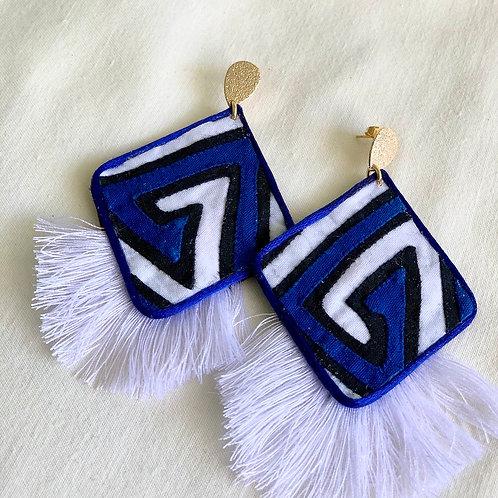 Lasso モラピアス ダイヤフリンジ_BLUE