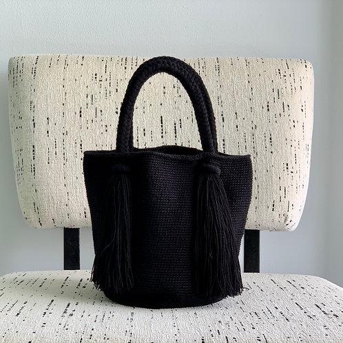 ワユウ族手作りトートバッグ  単色  Mサイズ