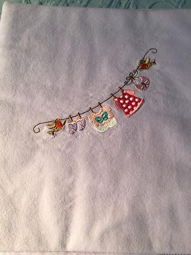 Receiving Blanket-Girls Clothesline