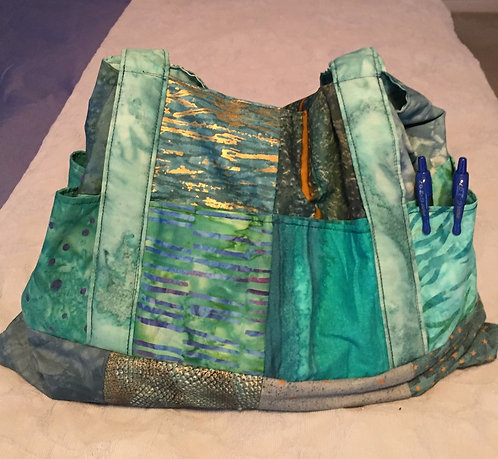 Teal Patchwork Shopping Bag/Purse489