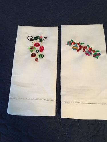 Linen Fingertip Guest Towels) Ornaments (1 & 2)