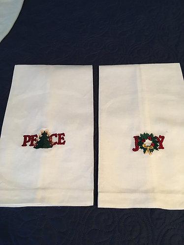 Peace/Joy Organic Towels