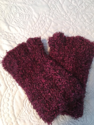 Fingerless Gloves, Dark Magenta