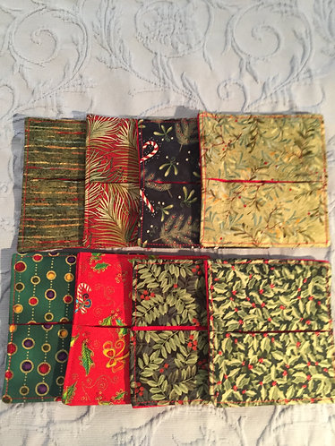 Quilted Christmas Wine Coasters-394/395